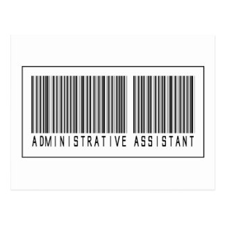 Barcode Administrative Assistant Postcard
