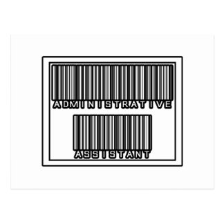 Barcode Administrative Assistant Postcards
