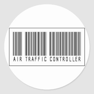 Barcode Air Traffic Controller Classic Round Sticker