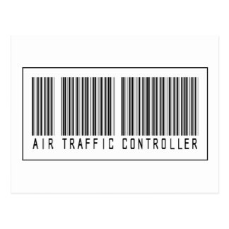 Barcode Air Traffic Controller Postcard