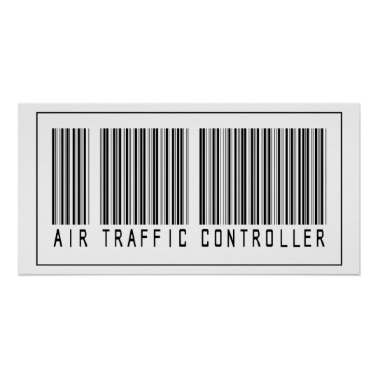 Barcode Air Traffic Controller Poster