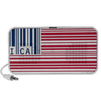 barcode american flag laptop speaker