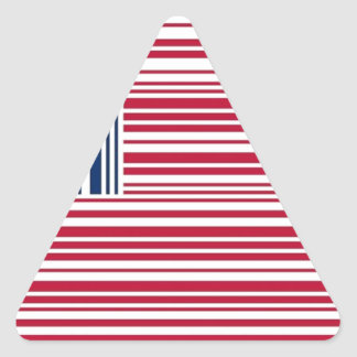 barcode american flag triangle sticker