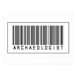 Barcode Archaeologist Postcard