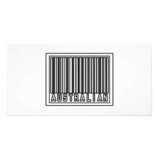 Barcode Australian Customized Photo Card