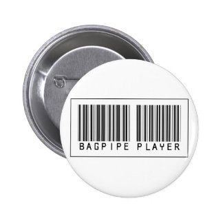 Barcode Bagpipe Player Pinback Button