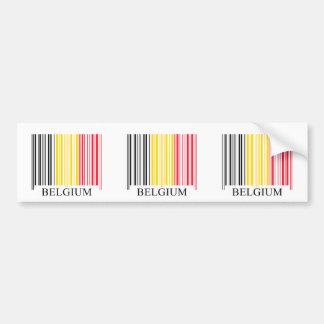 Barcode Belguim Flag Bumper Sticker
