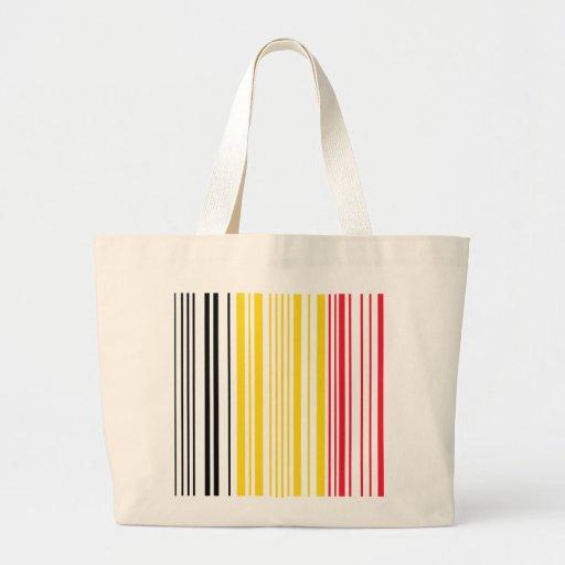 Barcode Belguim Flag Jumbo Tote Bag