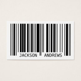 Black barcode business cards templates zazzle barcode black business card colourmoves