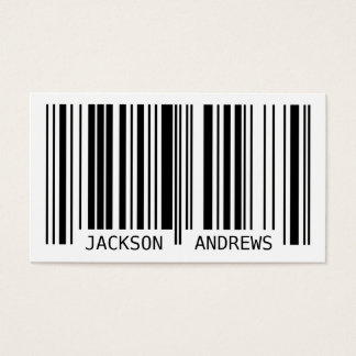 Barcode - Black Business Card