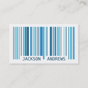 Barcode business cards templates zazzle barcode blue business card colourmoves