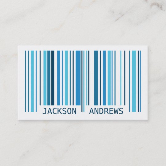 Barcode blue business card zazzle barcode blue business card colourmoves