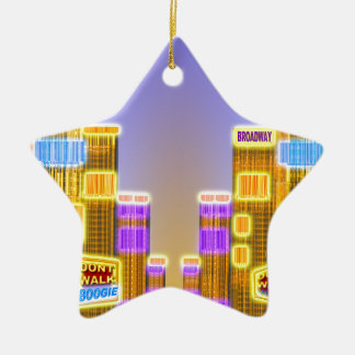 Barcode Boogie -Woogie Ceramic Ornament