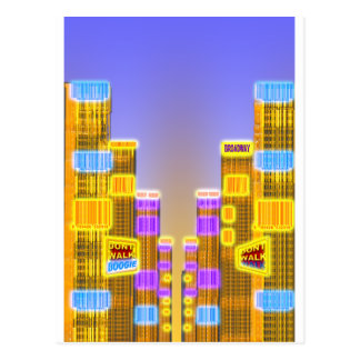 Barcode Boogie -Woogie Postcard