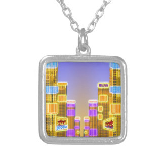 Barcode Boogie -Woogie Silver Plated Necklace