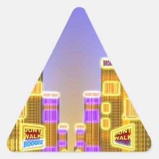 Barcode Boogie -Woogie Triangle Sticker