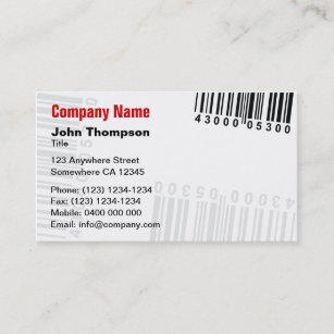 Barcode business cards templates zazzle barcode business card colourmoves