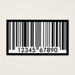 Barcode business cards templates zazzle barcode business card colourmoves Gallery