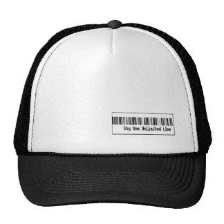 Barcode cap trucker hat