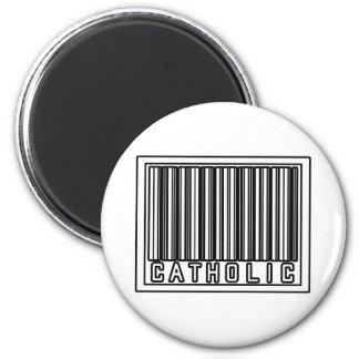 Barcode Catholic 2 Inch Round Magnet