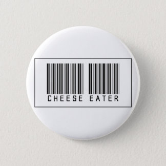 Barcode Cheese Eater Pinback Button