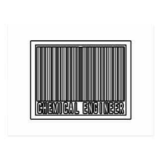 Barcode Chemical Engineer Postcard