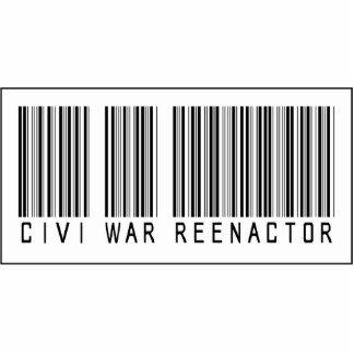 Barcode Civi War Reenactor Photo Sculpture Ornament