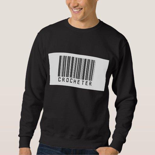 Barcode Crocheter Pull Over Sweatshirt