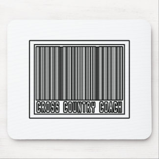 Barcode Cross Country Coach Mouse Pads