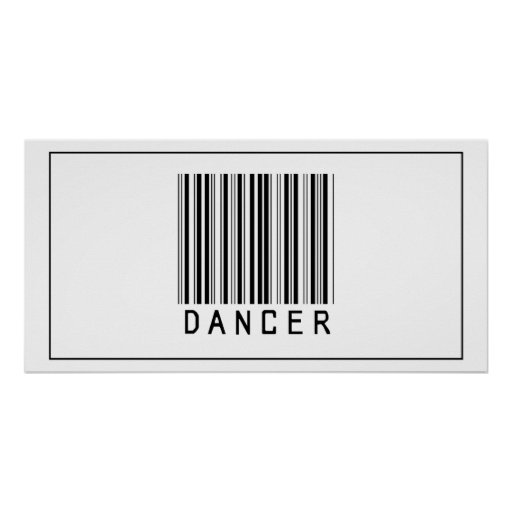 Barcode Dancer Print