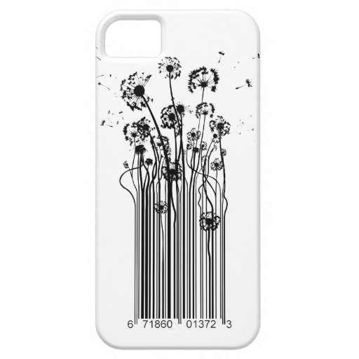 Barcode Dandelion Silhouette iphone cover iPhone 5 Case