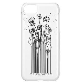 Barcode Dandelion Silhouette iphone cover iPhone 5C Covers