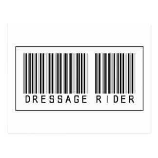 Barcode Dressage Rider Post Card