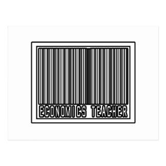 Barcode Economics Teacher Postcard