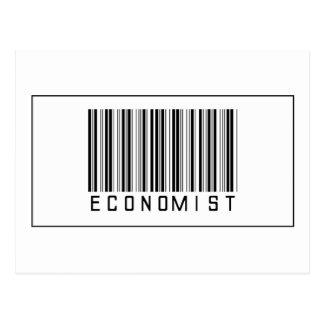 Barcode Economist Postcard