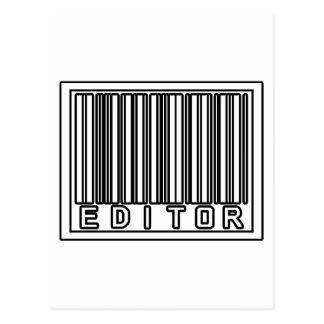 Barcode Editor Postcard