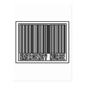 Barcode Emergency Nurse Postcard