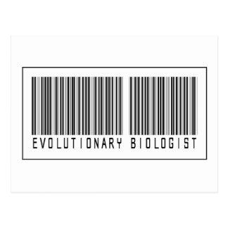Barcode Evolutionary Biologist Postcard