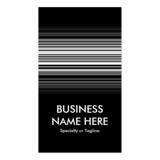 barcode fade business card