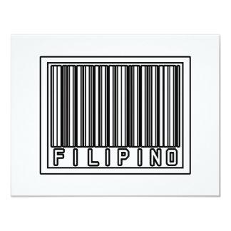 Barcode Filipino 4.25x5.5 Paper Invitation Card