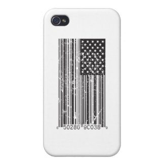Barcode Flag Covers For iPhone 4