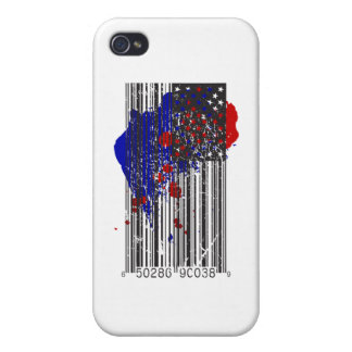Barcode Flag iPhone 4/4S Covers