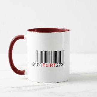 BarCode- Flirt Red Mug