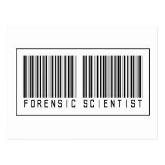 Barcode Forensic Scientist Postcard