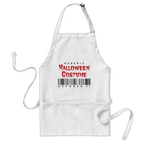 Barcode Generic Halloween Costume Adult Apron