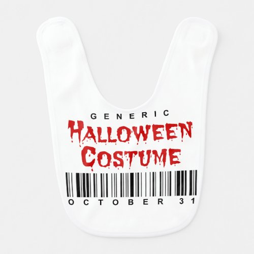 Barcode Generic Halloween Costume October 31 Baby Bib