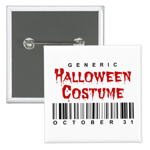 Barcode Generic Halloween Costume 2-inch Square Button