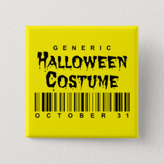 Barcode Generic Halloween Costume Button