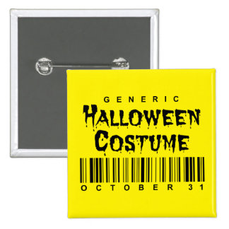 Barcode Generic Halloween Costume Button