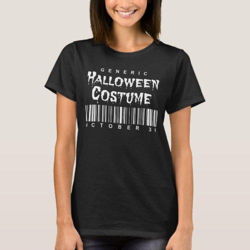 Barcode Generic Halloween Costume T-Shirt